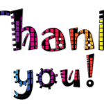 Thank You Typography Colorful  - mjimages / Pixabay